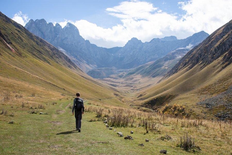 Trek dans la vallée de Sno, Juta, Kazbegi