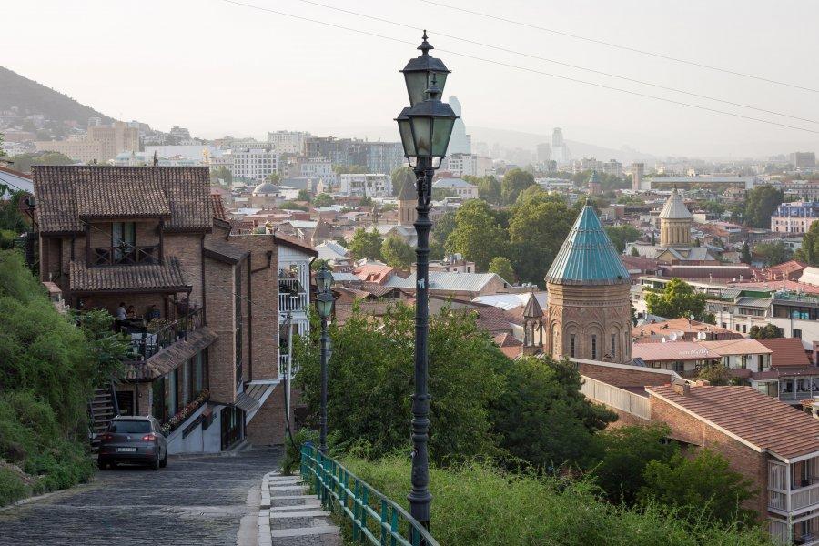 Tbilissi depuis la forteresse de Narikala, Géorgie