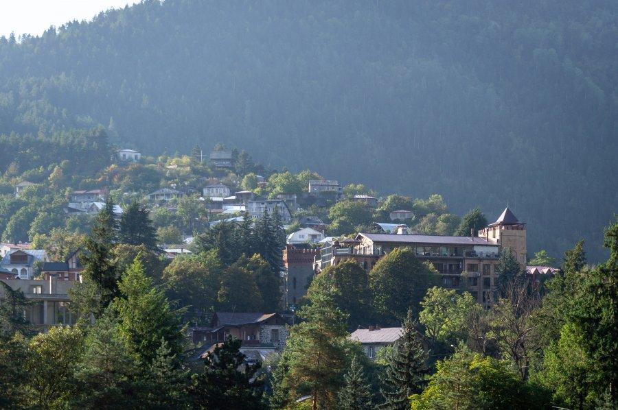 Ville de Borjomi en Géorgie