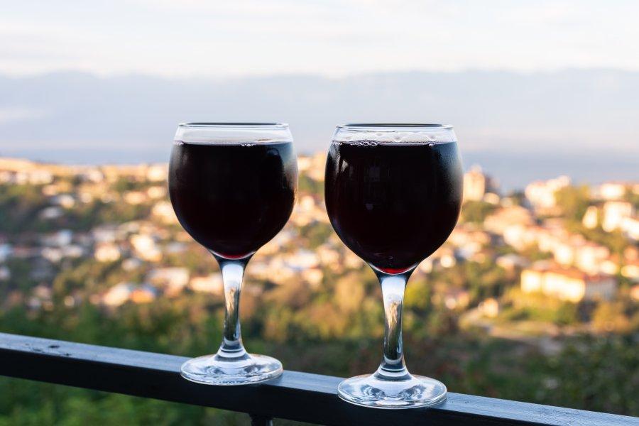 Vin géorgien à Sighnaghi, Khakhétie