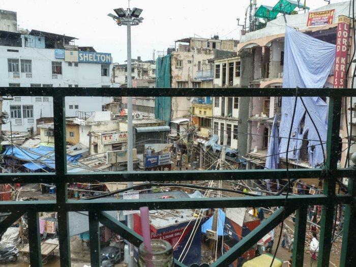 Le quartier d'Old Delhi tout cassé