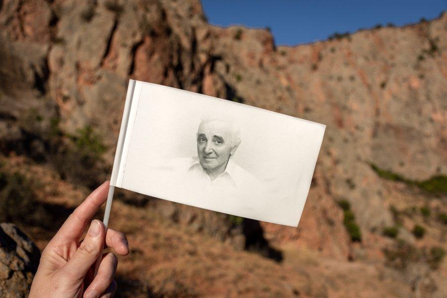Drapeau Aznavour en Arménie