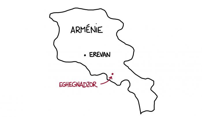Carte : Eghegnadzor en Arménie