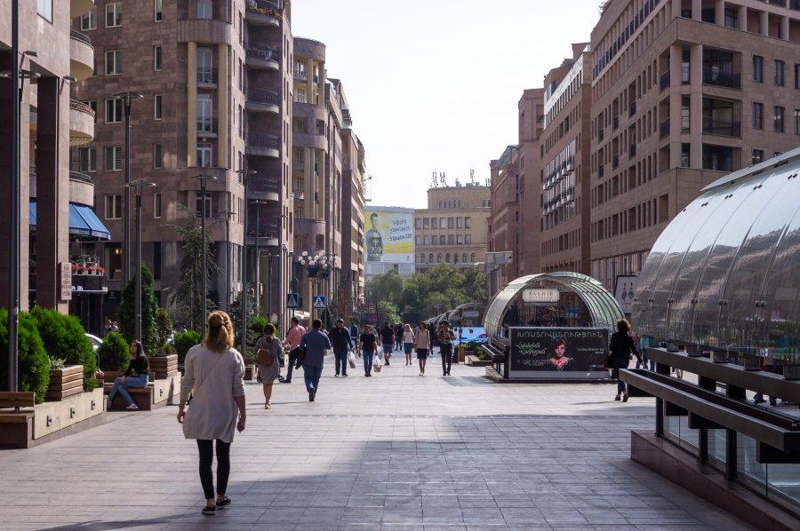 Centre-ville de Yerevan, Arménie