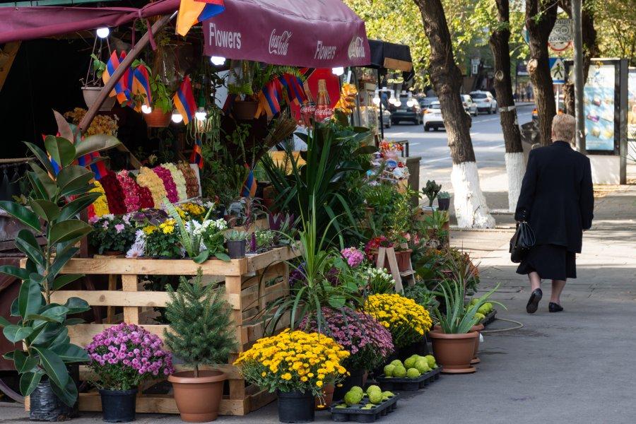 Fleuristes à Erevan, Arménie