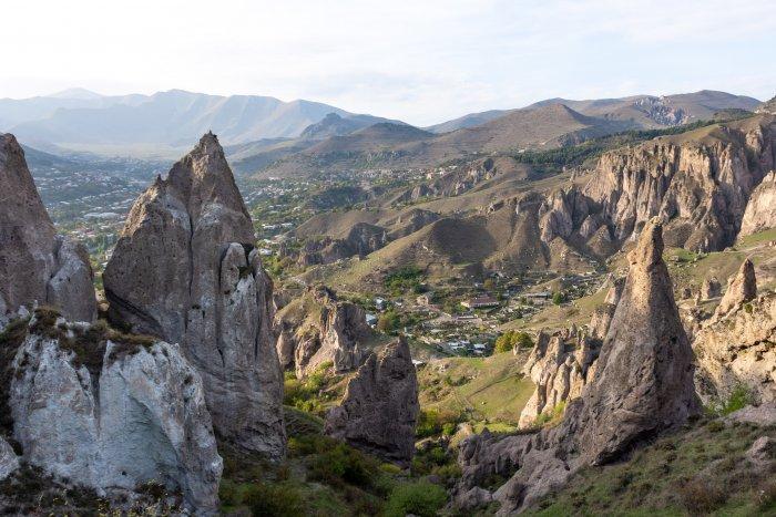 Paysages rocheux de Old Goris, Arménie