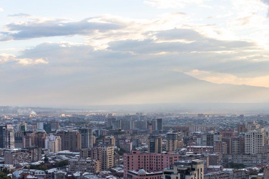 Vue panoramique de la ville d'Erevan, Arménie