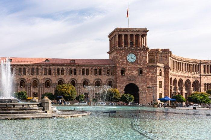 Place de la République à Erevan, Arménie