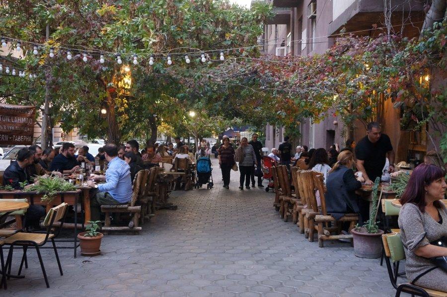 Restaurants avec terrasses à Erevan, Arménie