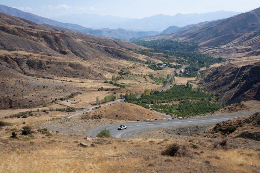 Route vers le Selim Pass en Arménie