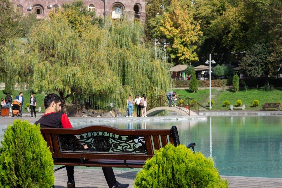 Swan lake à Erevan, Arménie