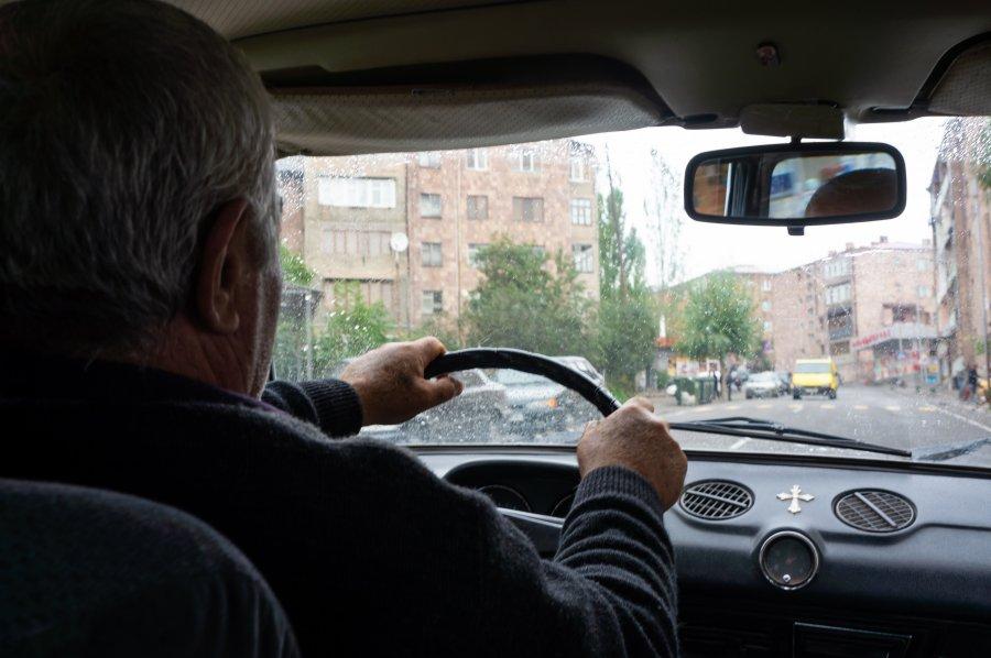 Taxi à Goris en Arménie