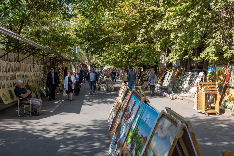Vernissage market à Erevan, Arménie