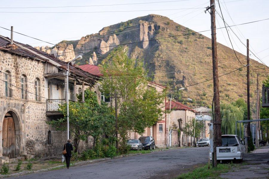 Ville de Goris en Arménie