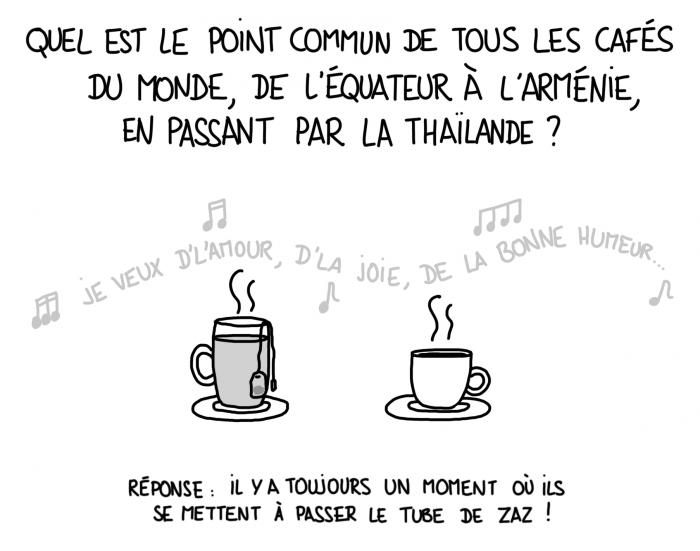 Dessin du lundi : Zaz je veux dans tous les cafés du monde