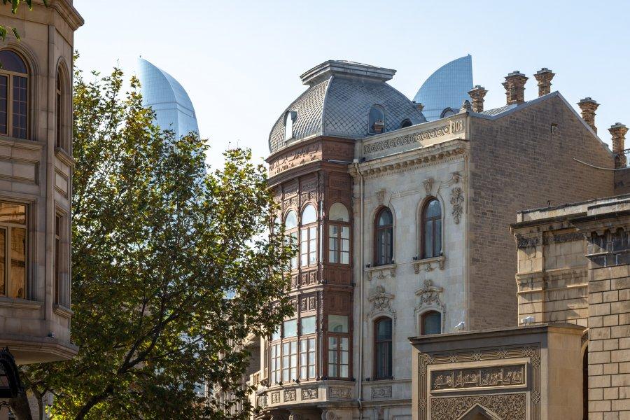 Architecture de la vieille ville de Bakou