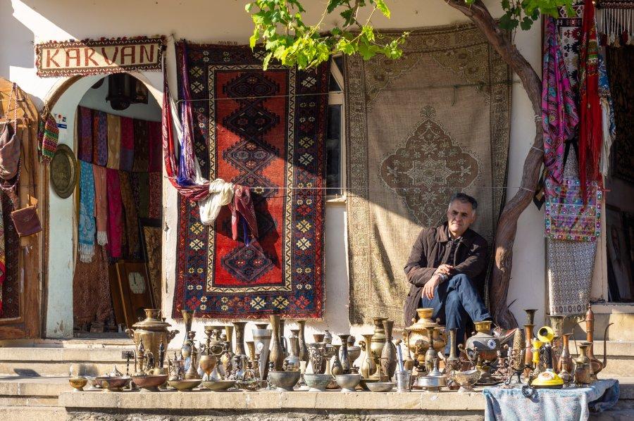 Boutique dans la vieille ville de Bakou, Azerbaïdjan