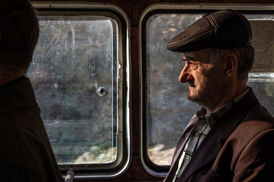 Bus à Alaverdi, Arménie