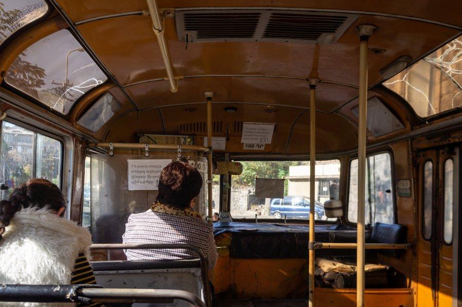 Bus entre Alaverdi et Sanahin, Arménie