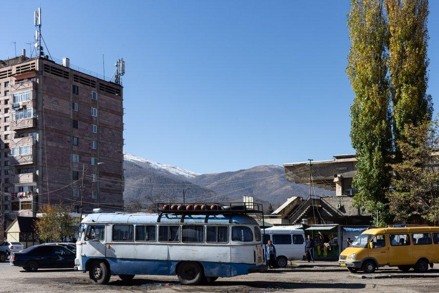Terminal de bus en Arménie