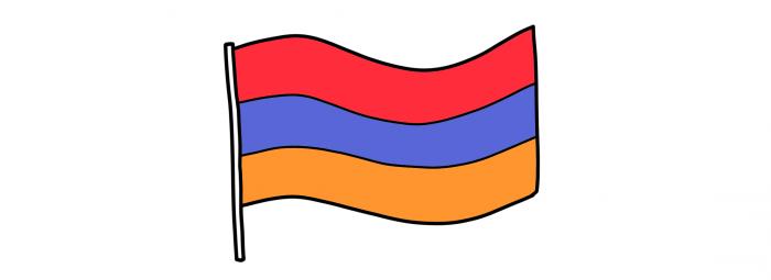 Dessin : drapeau arménien