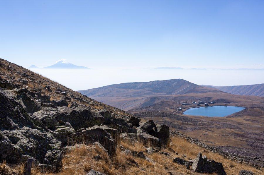 Lac Kari, Mont Aragats, Arménie