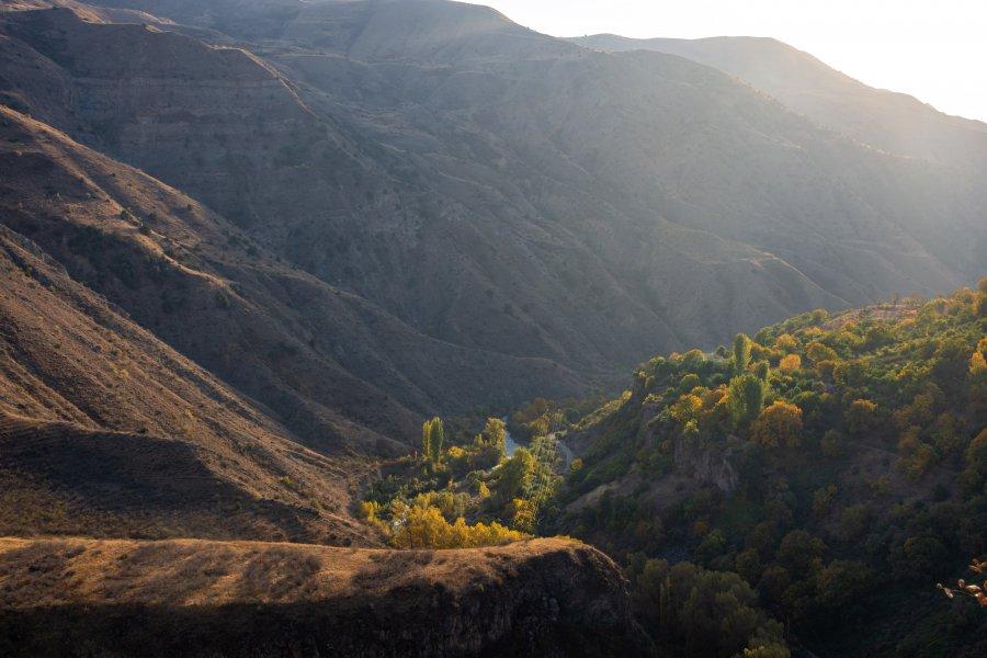 Paysages de montagne à Garni, Arménie