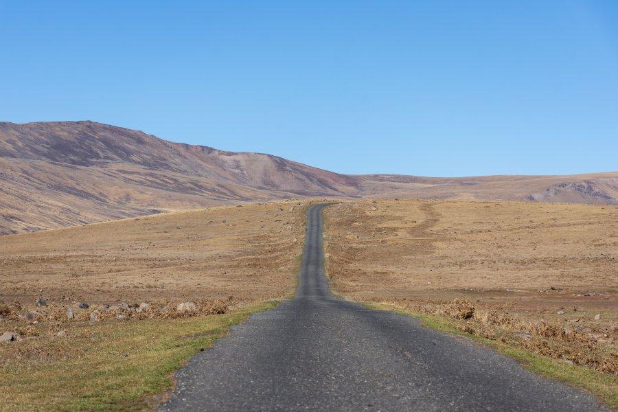 En route vers la Montagne Aragats, Arménie