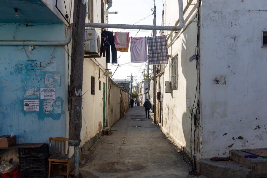 Ruelle du vieux Bakou en Azerbaïdjan
