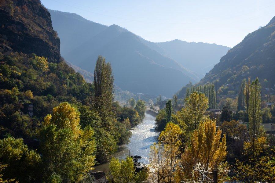 Paysages autour d'Alaverdi en Arménie