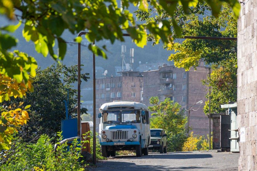 Ville d'Alaverdi en Arménie
