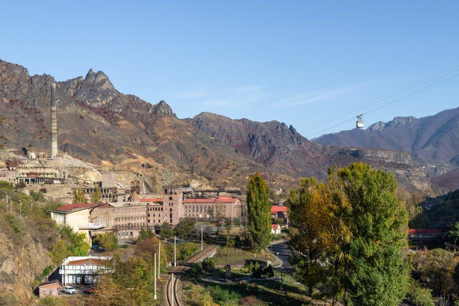 Ville d'Alaverdi au nord de l'Arménie