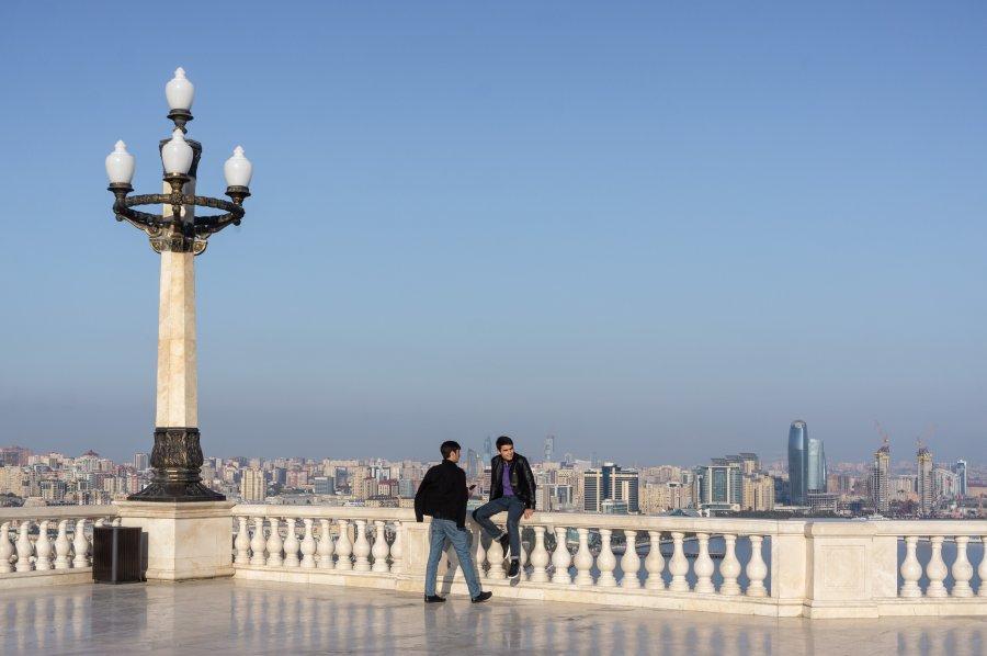 Mirador sur Bakou, Azerbaïdjan