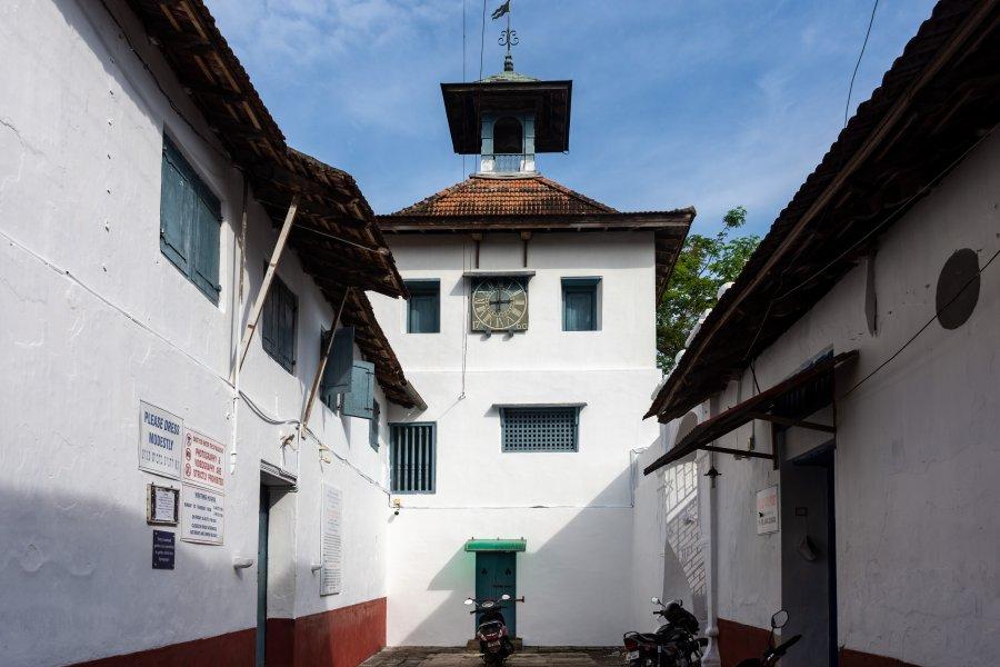 Synagogue de Cochin, quartier juif, Kerala, Inde