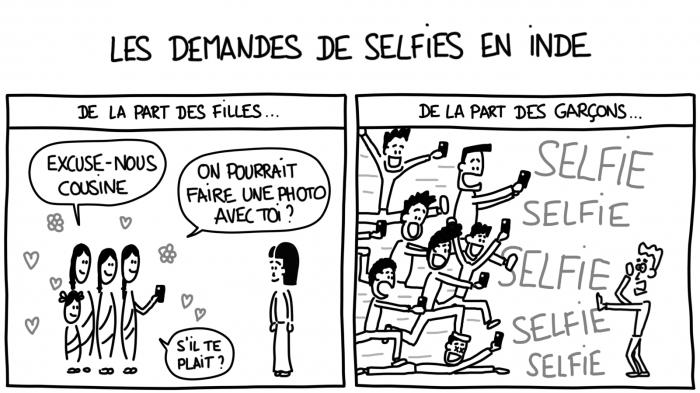 Dessin : les demandes de selfie en Inde
