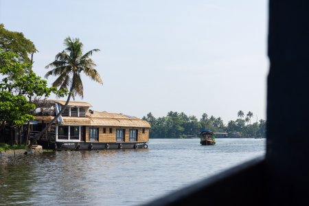 Promenade sur les backwaters d'Alleppey, Kerala, Inde