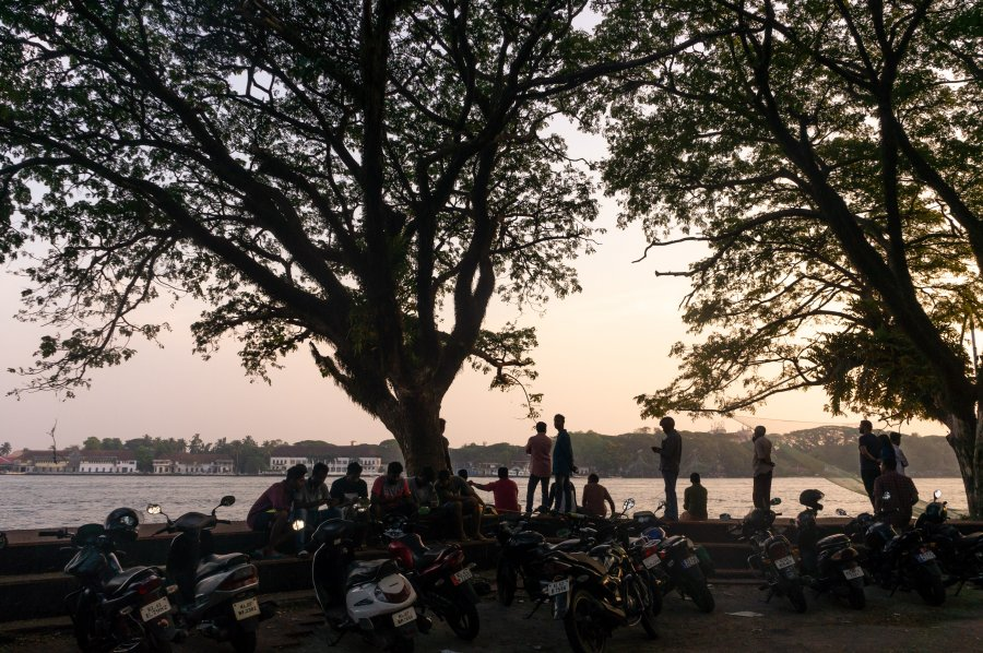 Île de Vypeen à Cochin, Kerala, Inde