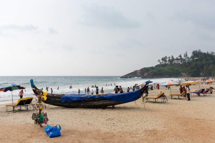 Plage de Kovalam, Kerala, Inde du sud