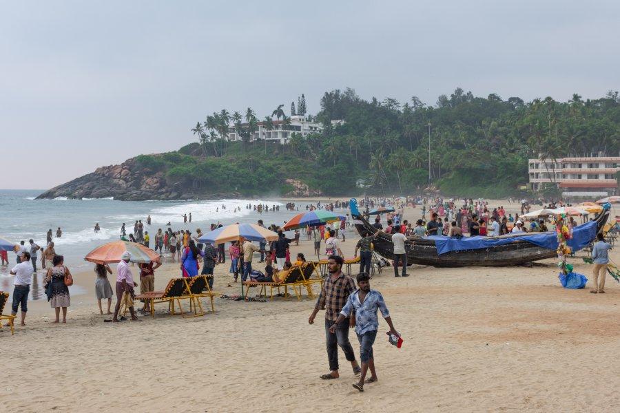 Plage de Kovalam en Inde du sud