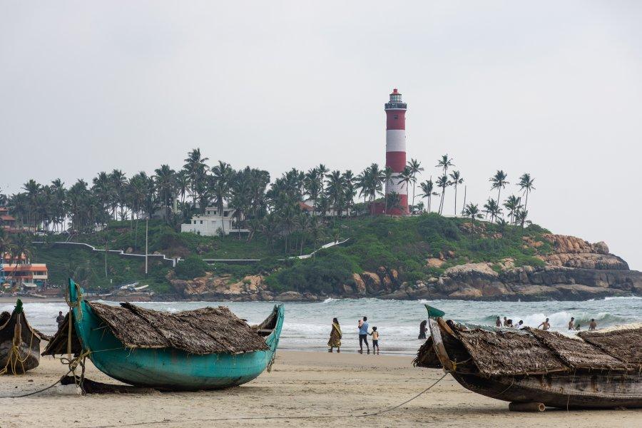 Plage de Kovalam, Kerala, Inde