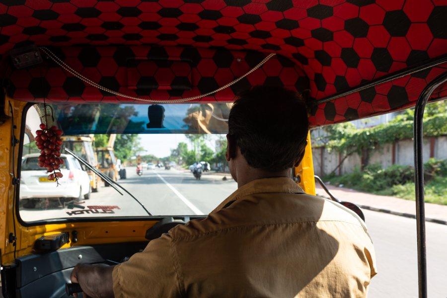 Rickshaw à Trivandrum, Kerala