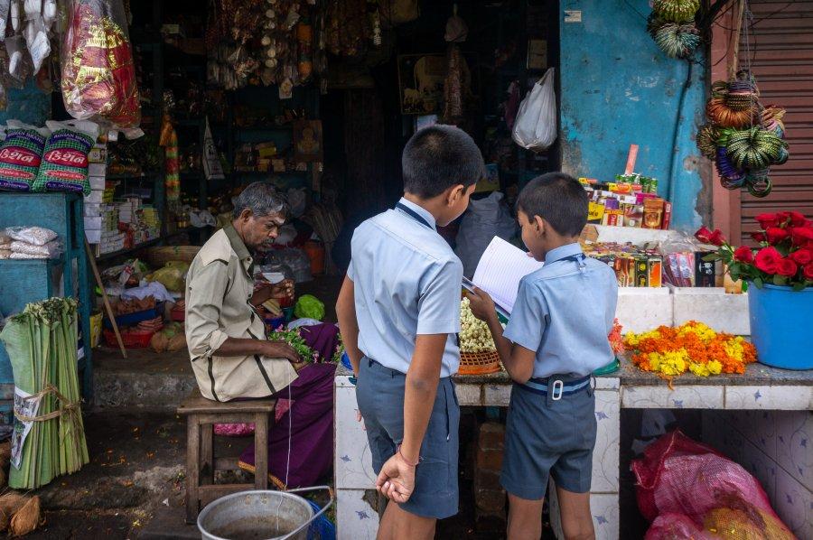 Rue de Cochin, Kerala, Inde du sud