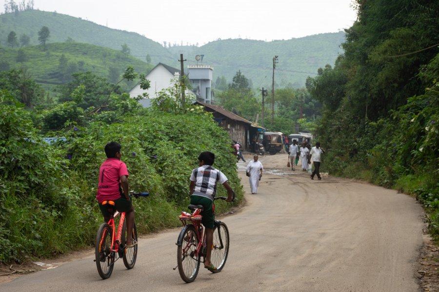 Village de Munnar, Kerala, Inde