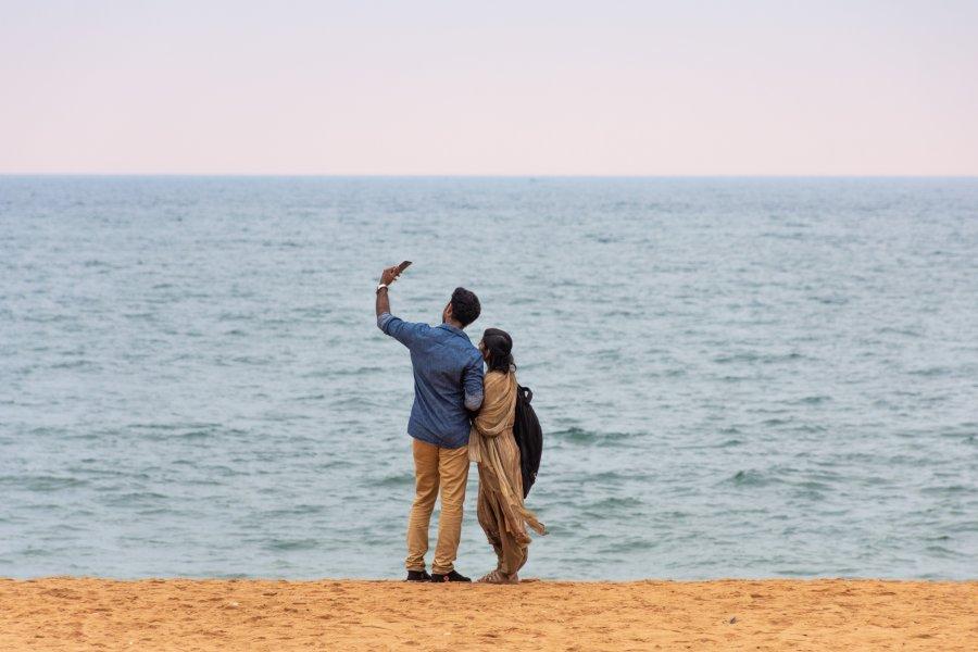 Shankumugham Beach à Trivandrum, Inde