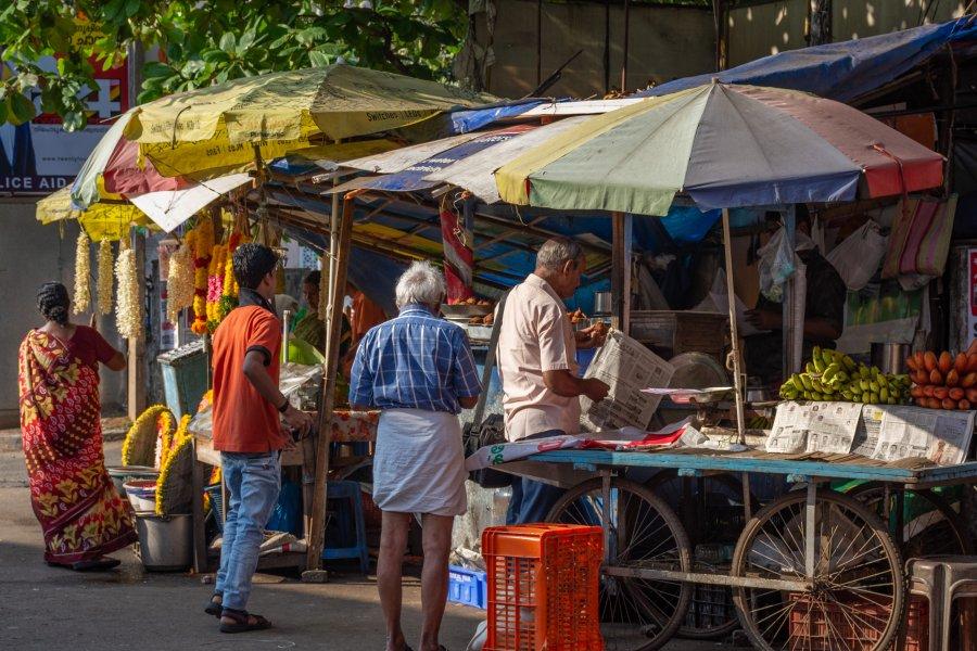 Street food à Trivandrum, Kerala, Inde