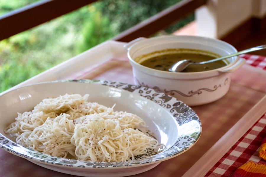 String noodles : petit déjeuner du Kerala