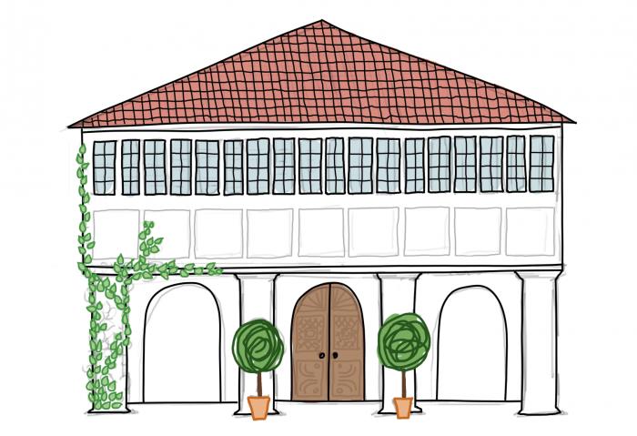 Dessin : Architecture héritage à Fort Cochin, Inde du Sud