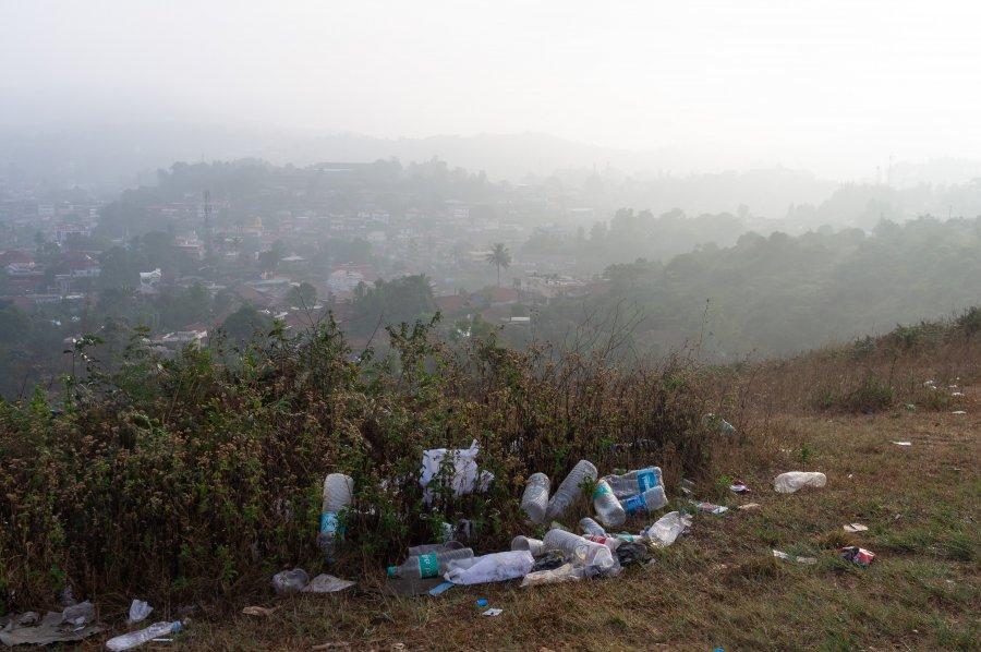 Déchets à Madikeri, Coorg, Karnataka