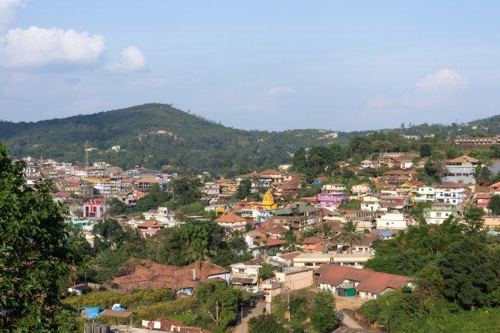 Ville de Madikeri à Coorg en Inde