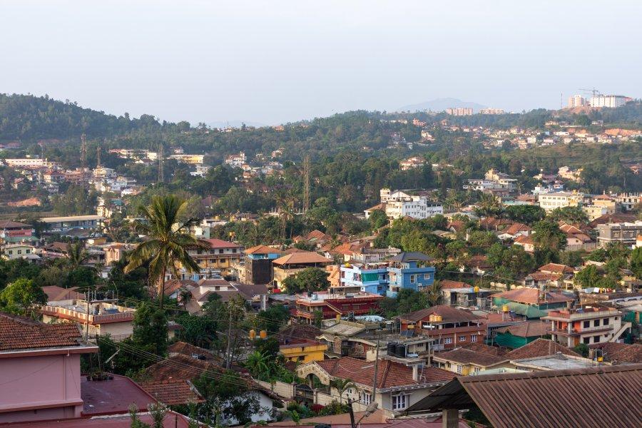 Ville de Madikeri, Coorg, Karnataka